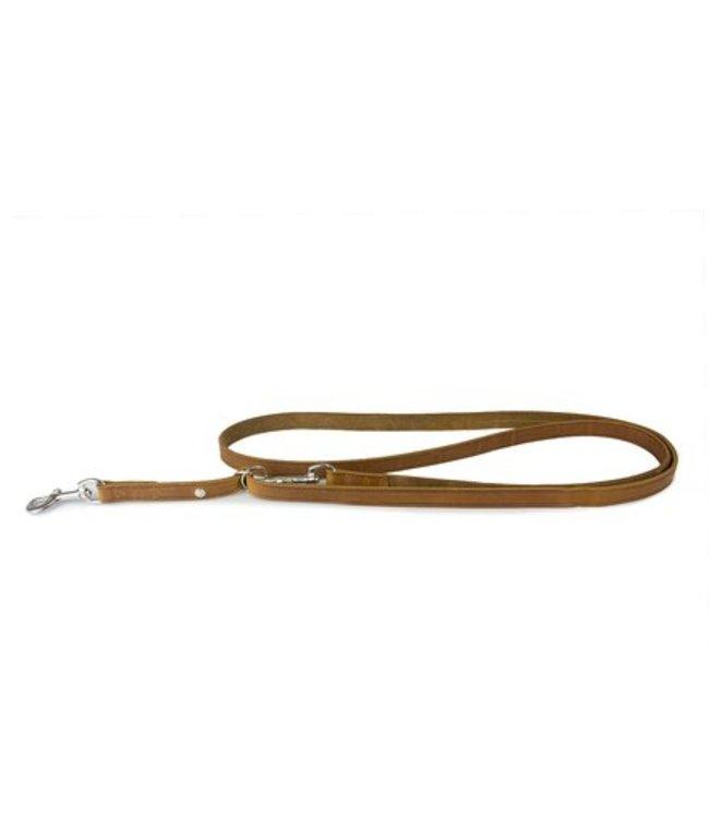 Das Lederband traploos verstelbare riem Weinheim, kastanje