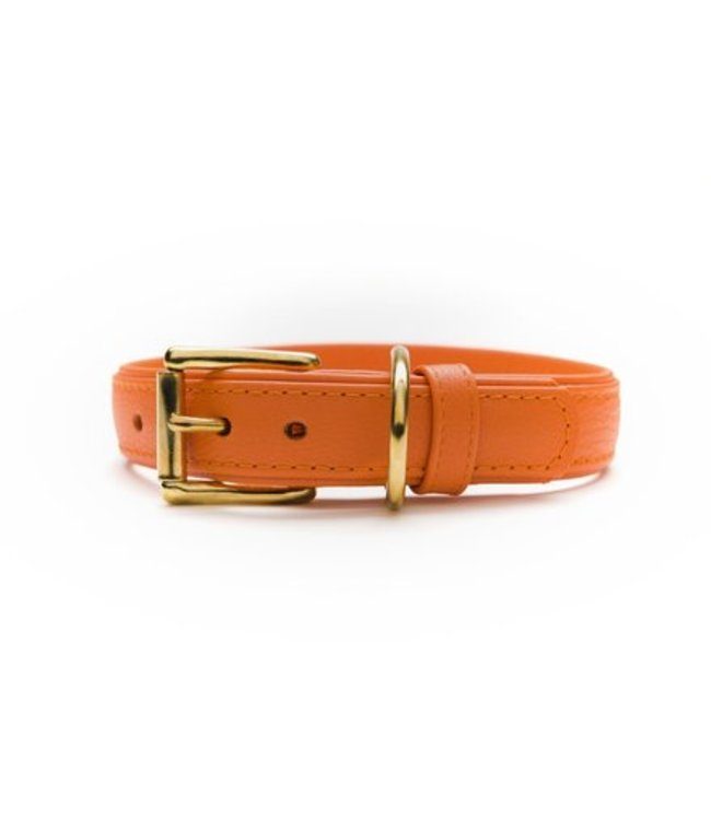 Das Lederband halsband Como, oranje