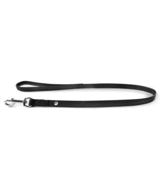 Das Lederband dog leash Roma, Black / Black