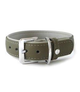 Das Lederband collar Amsterdam, caspers / grey