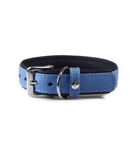 Das Lederband halsband Firenze, Azure / Oxford Blue