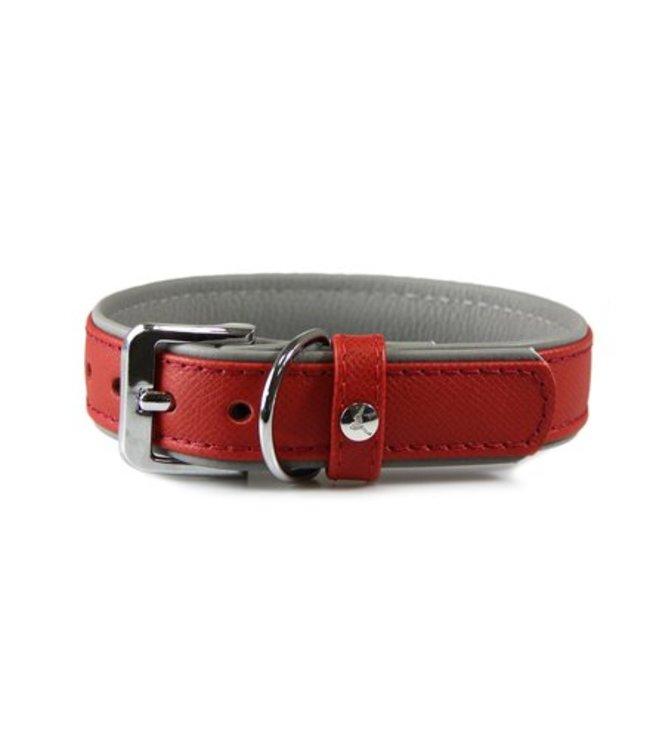 Das Lederband collar Firenze, Carnelian / Stone