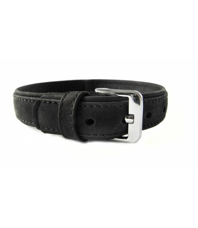 Das Lederband collar Boston (D-Ring in the middle), black