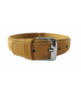 Das Lederband collar Boston (D-Ring in the middle), sand
