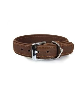 Das Lederband collar Boston, mocca
