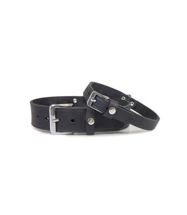 Das Lederband collar Weinheim, black