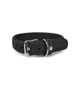 Das Lederband halsband Boston, zwart