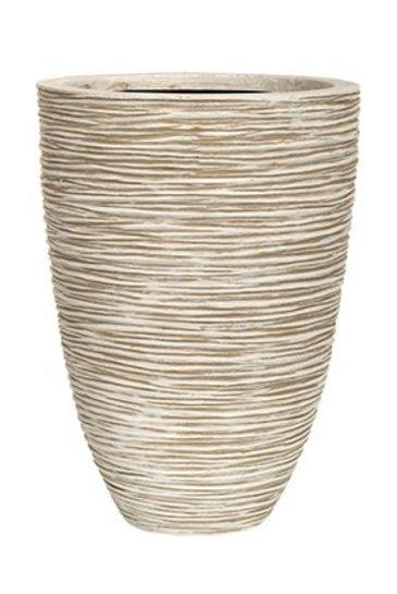 Capi Nature Vaas elegance laag rib I ivoor