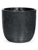 Capi Pot bol rib III zwart
