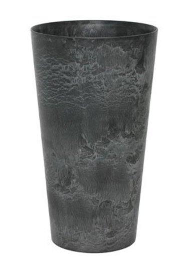 Artstone Claire vaas zwart (Kunststof bloempot)