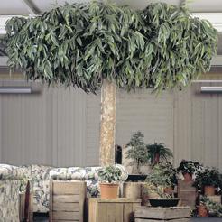 Interieurbeplanting met grote plantenbakken
