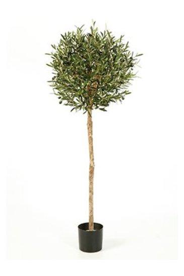 Kunstplant Natural olive ball - (Zijdeplant)