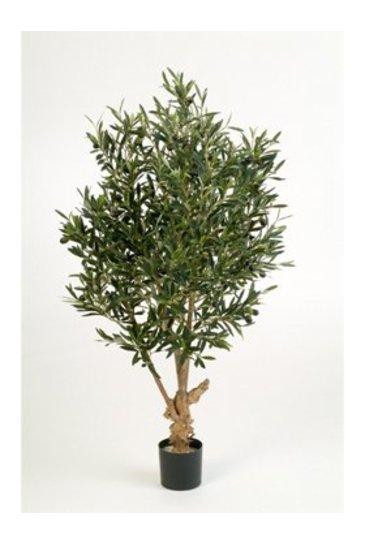 Kunstplant Natural twisted olive - (Zijdeplant)