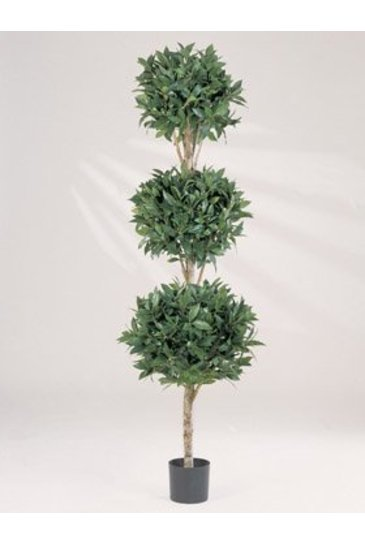 Kunstplant Laurel triple ball