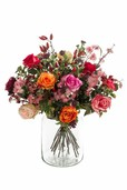Kunstplant Bouquet flame roses