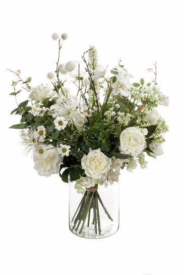 Kunstplant Bouquet wild white