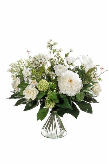 Kunstplant Bouquet white dream