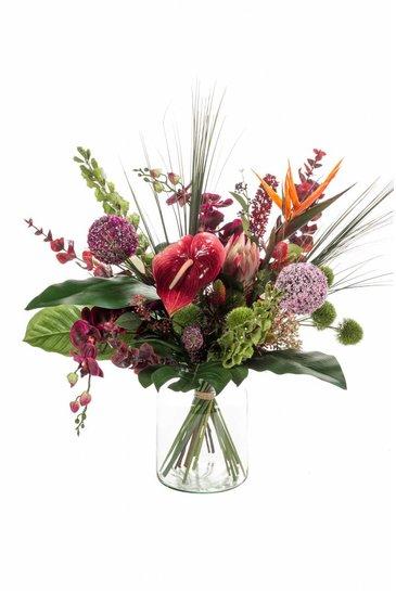Kunstplant Bouquet exotic mix - (Zijdeplant)