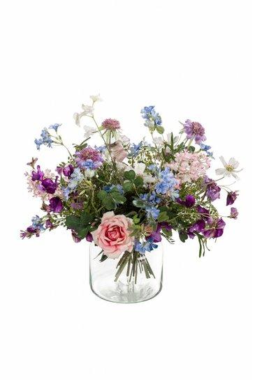Kunstplant Bouquet purple rain