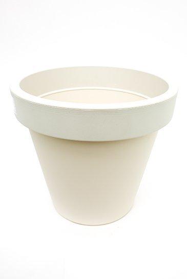 Geli Kunststof plantenbak creme wit