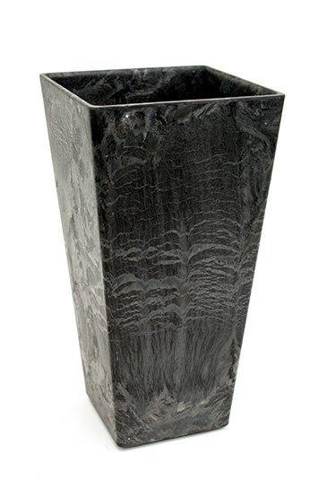 Artstone Ella vaas zwart (Kunststof bloempot)
