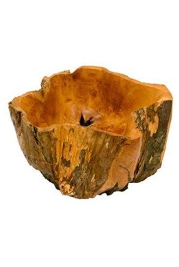 Decowood Eroded wood pot