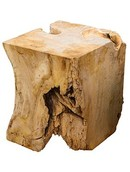 Decowood Cubical stool teak root