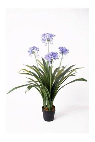 Kunstplant Agapanthus Blue  - Zijdeplant