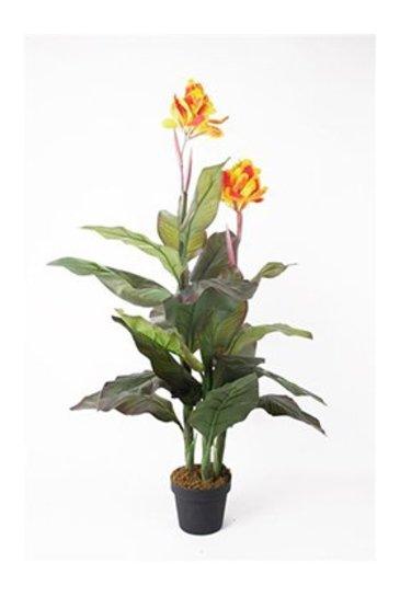 Kunstplant Canna Yellow  - Zijdeplant