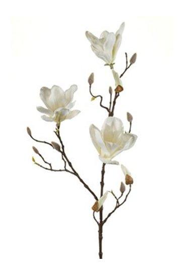 Kunstplant Magnolia Spray cream - Zijdeplant