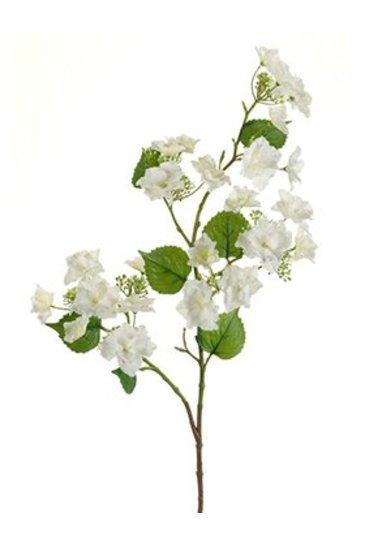 Kunstplant Hydrangea anomala Branch cream - Zijdeplant