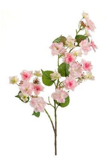 Kunstplant Hydrangea anomala Branch pink - Zijdeplant