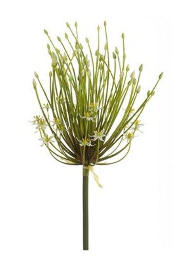 Kunstplant Allium Spray double flower cream - Zijdeplant