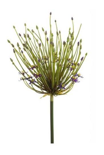 Kunstplant Allium double flower spray Dk purple - Zijdeplant