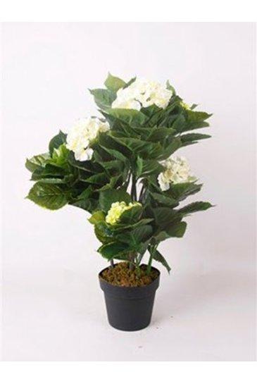 Kunstplant Hydrangea White  - Zijdeplant