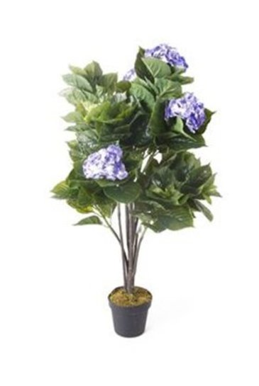 Kunstplant Hydrangea Blue  - Zijdeplant