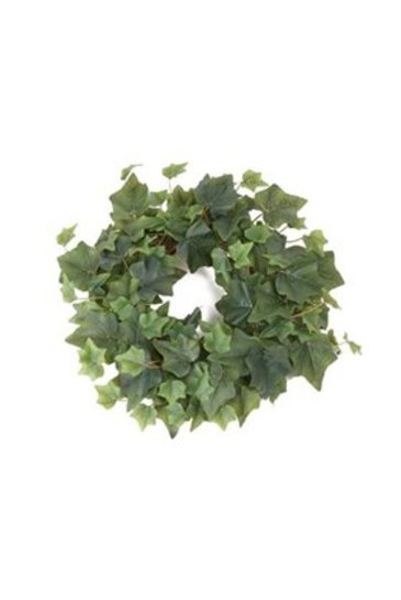 Kunstplant Ivy Candle ring green - Zijdeplant