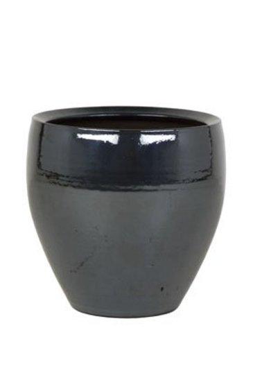 Amora Metal Blue (Keramieken bloembak)