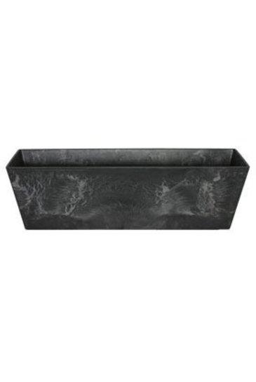 Artstone Ella balcony zwart (Kunststof bloempot)