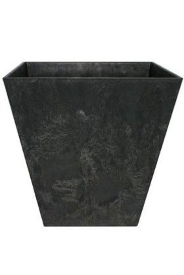 Artstone Ella pot zwart (Kunststof bloempot)