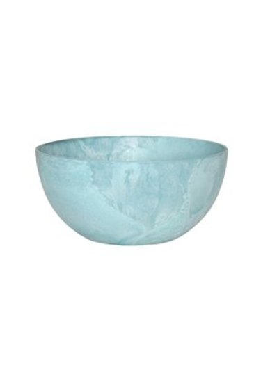 Artstone Fiona bowl aqua (Kunststof bloempot)