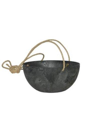 Artstone Fiona hanger zwart (Kunststof bloempot)