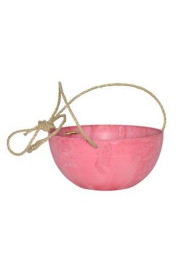 Artstone Fiona hanger roze (Kunststof bloempot)