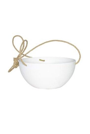 Artstone Fiona hanger wit (Kunststof bloempot)