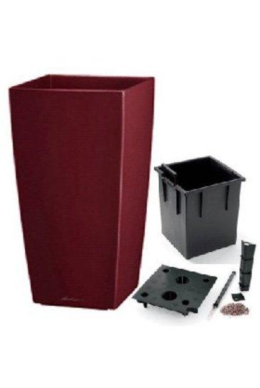 Lechuza Cubico Set scarlet rood (Kunststof plantenbak)
