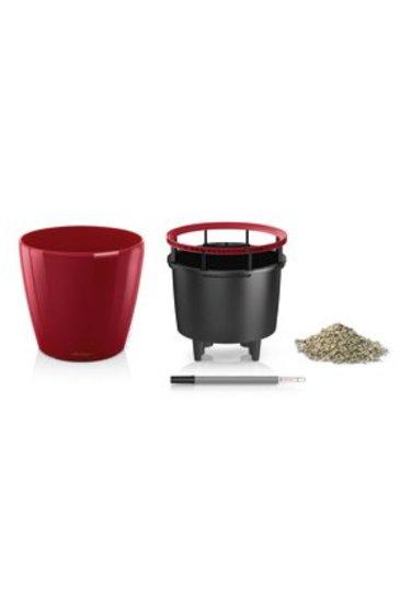 Lechuza Classico LS Set scarlet rood (Kunststof plantenbak)