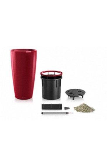 Lechuza Rondo Set scarlet rood (Kunststof plantenbak)