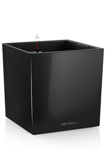 Lechuza Cube Zwart (Kunststof plantenbak)