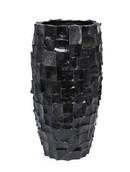 Ocean Vase black round