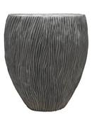River Vase oval aluminium